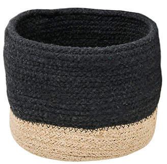 "One Kings Lane 10"" Hollins Decorative Basket - Black/Natural"