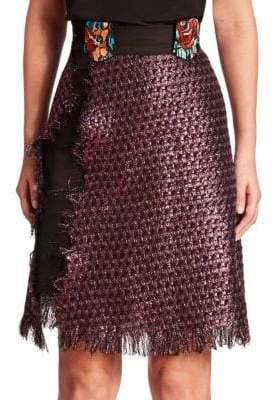Night Tweed Wrap Skirt