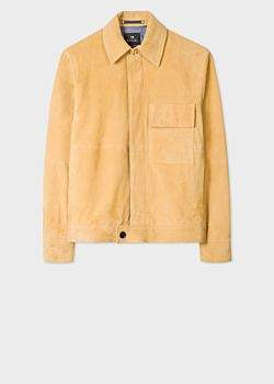 Men's Yellow Suede Leather Jacket