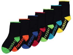 George Black Colourful Heel Socks 7 Pack