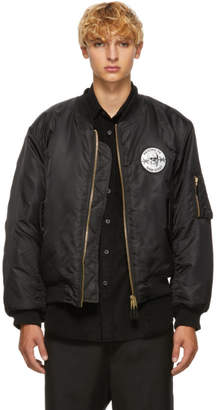 Yang Li Black Cross Bomber Jacket