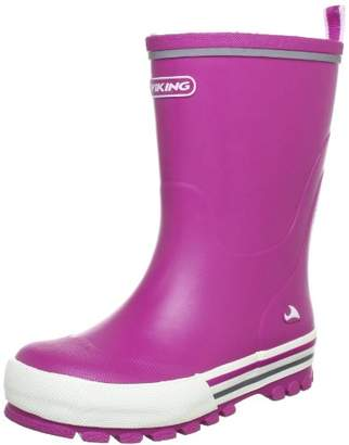Viking Jolly Rubber Boots Unisex-Child Pink Size: 21