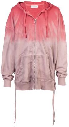 Faith Connexion tie-dye zip front hoodie