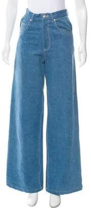 Samantha Pleet High-Rise Wide-Leg Jeans