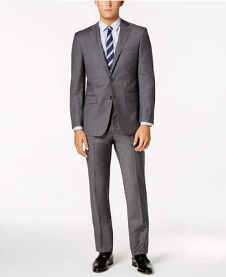 Calvin Klein Men's Extra Slim-Fit Gray Sharkskin Suit