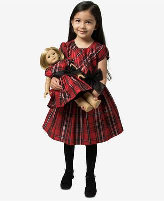 Bonnie Jean Little Girls 2-Pc. Plaid Dress & Doll Dress Set