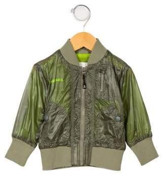 Diesel Boys' Lightweight Zip-Up Jacket