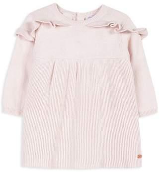 Tartine et Chocolat Girls' Ruffled Knit Sweater Dress - Baby
