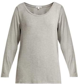 Skin - Lena Jersey Pyjama Top - Womens - Grey