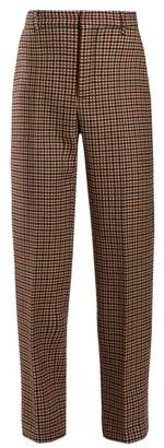 Balenciaga High Rise Tweed Trousers - Womens - Light Brown