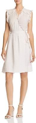 Rebecca Taylor Ikat Dot Wrap Dress