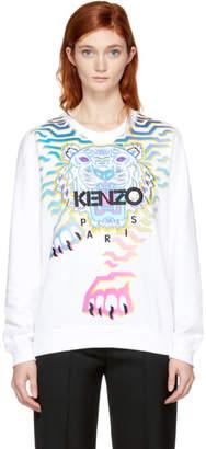 Kenzo White Limited Edition Geo Rainbow Sweatshirt