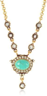 Alcozer & J Blue Sky Brass Necklace