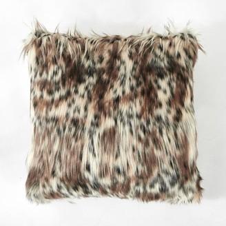 Better Homes & Gardens Leopard Print Faux Fur Throw Pillow