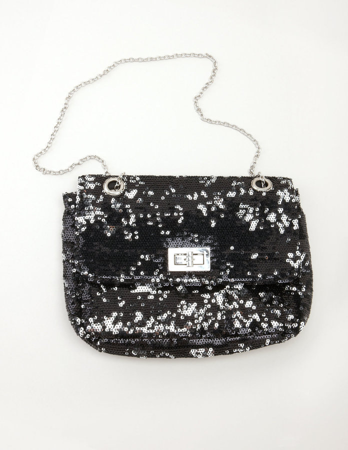 Sequin Clutch with Chain Strap