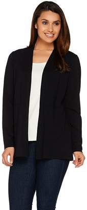 Susan Graver Weekend Cotton Modal Open Front Cardigan