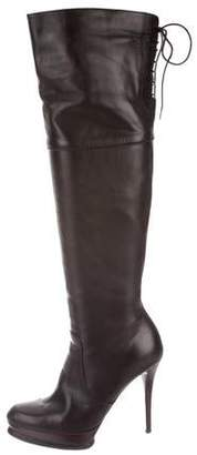 8e03adc3f38 Stuart Weitzman Leather Over-The-Knee Boots
