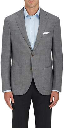 Luciano Barbera Men's Wool Hopsack Two-Button Sportcoat $1,595 thestylecure.com
