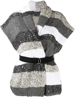 Brunello Cucinelli knitted wrap top