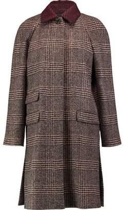 Sonia Rykiel Prince Of Wales Checked Alpaca And Wool-Blend Coat