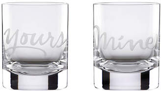 Kate Spade Set Of 2 Two Of A Kind Mine & Yours Dof Glasses