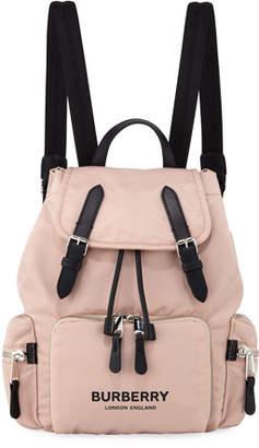Burberry Nylon Medium Drawstring Rucksack Backpack, Pink