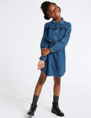 Marks and Spencer Frill Denim Dress (3-16 Years)