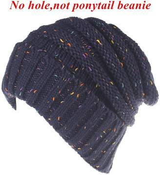 D.E.P.T FIST BUMP Men Women Warm Chunky Soft Oversized Stretch Cable Knit Slouchy Beanie Hat