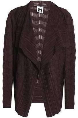 M Missoni Draped Crocheted Wool-blend Cardigan