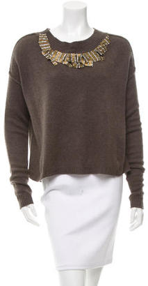 Vera Wang Cashmere Embellished Sweater $125 thestylecure.com