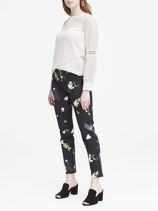 Petite Sloan Skinny-Fit Petra Floral Ankle Pant