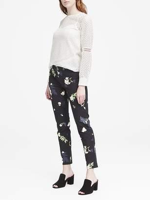 Banana Republic Petite Sloan Skinny-Fit Petra Floral Ankle Pant