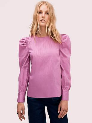Kate Spade Cotton Puff Sleeve Blouse, Ruffled Pansy - Size L