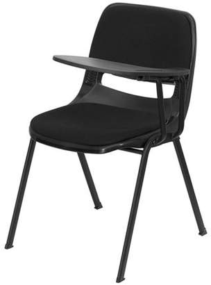 Flash Furniture Padded Ergonomic Shell Chair with Left-Handed Flip-Up Tablet Arm, Black