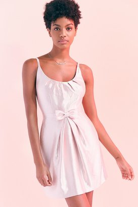 Kimchi Blue Taylor Shimmer Bow Waist Mini Dress $129 thestylecure.com