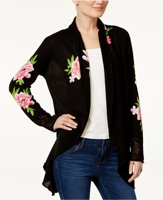 INC International Concepts Embroidered Open-Front Cardigan, Only at Macy's $119.50 thestylecure.com