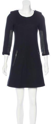 Burberry Burberry Brit Wool Shift Dress