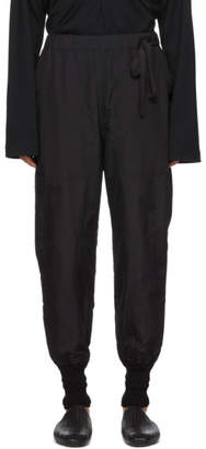 BED J.W. FORD Black Nylon Training Trousers