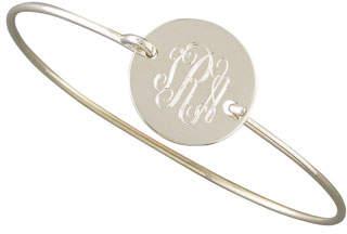 Sarah Chloe Chiara Monogrammed Circle Bracelet, Silver