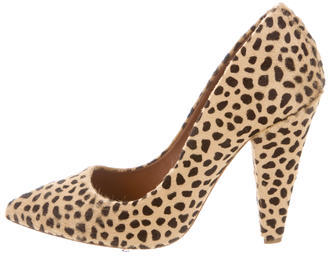 Mulberry Ponyhair Pointed-Toe Pumps $75 thestylecure.com