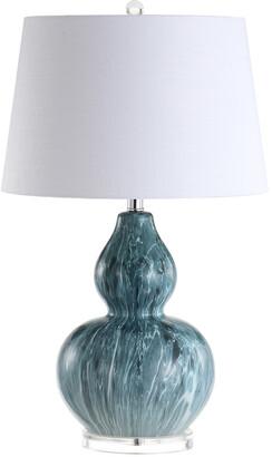 Jonathan Y Designs Jonathan Y 28.5In Stockholm Blue Glaze Table Lamp