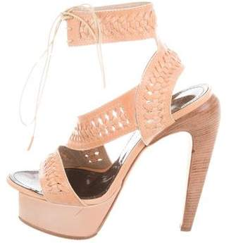 Proenza Schouler Leather Crocheted Sandals