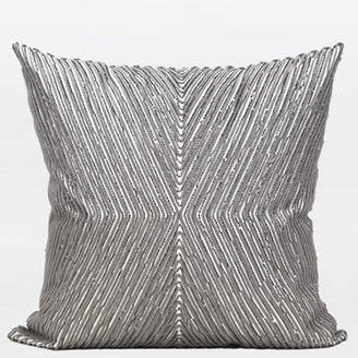 G Home Collection Luxury Handmade Textured Beaded Pillow Cover