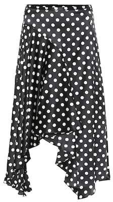 Caroline Constas Flounce polka-dot silk skirt
