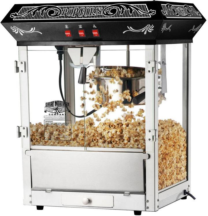 Great Northern Popcorn Black Old Time 8 oz. Popcorn Popper Machine