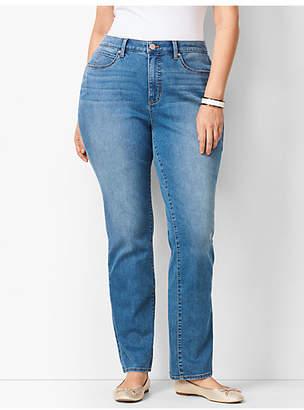 Talbots High-Waist Straight-Leg Jeans - Curvy Fit - Aurora Wash