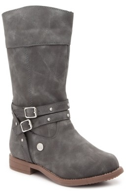 Nicole Miller Buckles & Studs Riding Boot - Kids'
