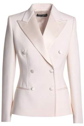 Dolce & Gabbana Double-Breasted Satin-Trimmed Wool And Silk-Blend Blazer