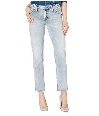 Silver Jeans Co. Elyse Mid-Rise Curvy Fit Slim Leg Jeans in Indigo L03328SCP106