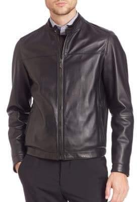 Pal Zileri Biker Nappa Leather Jacket
